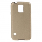 Protective PU Leather Back Case for Samsung Galaxy S5 - Golden