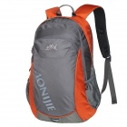 AONIJIE Multi-Function Outdoor Sports Nylon Backpack - Grey + Orange