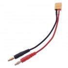 XT60 to 4.0 Banana Plug RC Battery Charge Cable - Black + Red (5 PCS)