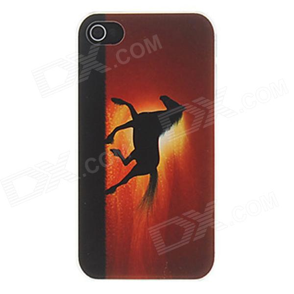 Kinston Cavalo que funciona no por do sol Padrão Matte Projetado PC Hard Case para iPhone 4 / 4S