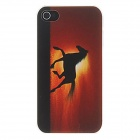 Kinston Horse Running in the Sunset Pattern Matte Designed PC Hard Case for IPHONE 4 / 4S