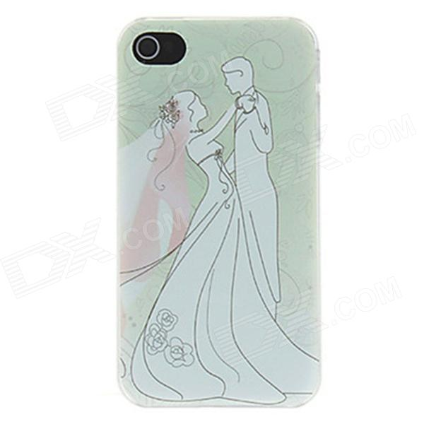Kinston Brides and Bridegroom Dance Trippingly Pattern Matte Designed PC Hard Case for IPHONE 4 / 4S cartoon pattern matte protective abs back case for iphone 4 4s deep pink