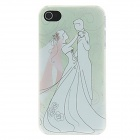 Kinston Brides and Bridegroom Dance Trippingly Pattern Matte Designed PC Hard Case for IPHONE 4 / 4S