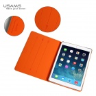 USAMS IPALG02 360 Degree Rotation PU Leather + PC Case for IPAD AIR - White