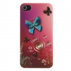 Kinston Butterfly with Gradient Color Background Pattern Matte PC Hard Case for IPHONE 4 / 4S