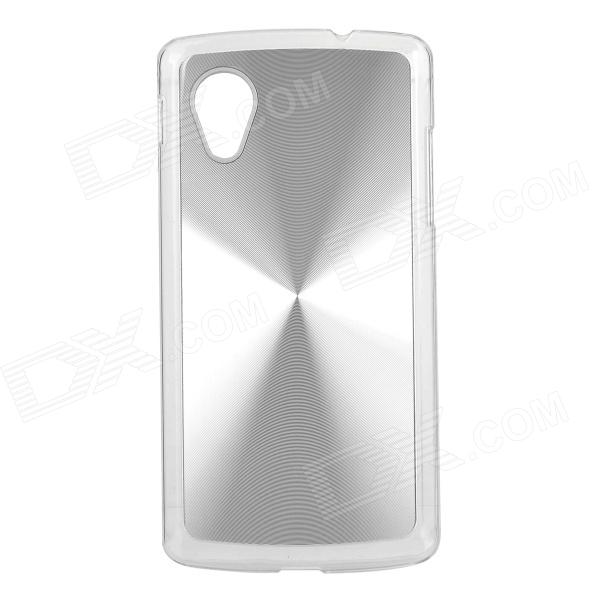 Sunshine CD Grain Style Protective Aluminum Alloy Back Case for LG Nexus 5 / E980 - Silver