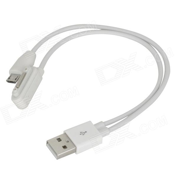USB a Micro de 5 pines + Interfaz magnético Adaptador Cable de datos de carga para Z1 / Z1mini / XL39h - Blanco