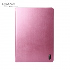 USAMS 360 Degree Rotatable PU + PC Leather Case for IPAD Air - Pink
