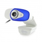 Jeway JW-5201 8.0MP USB 2.0 Wired HD Camera w/ Microphone - White + Blue