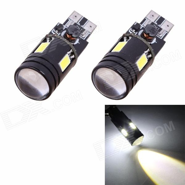 T10 7W 480lm 6000K 4 x 5630 + 1-LED Error Free White Car Parking / Clearance Lamp (2PCS) carprie super drop ship new 2 x canbus error free white t10 5 smd 5050 w5w 194 16 interior led bulbs mar713