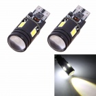 T10 7W 480lm 6000K 4 x 5630 + Cree XP-D LED Error Free White Car Parking / Clearance Lamp (2PCS)