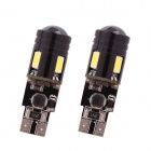 T10 7W 480lm 6000K 4 x 5630 + 1-LED Error Free White Car Parking / Clearance Lamp (2PCS)