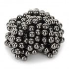DIY 4mm NdFeB Magnetic Ball Educational Toy - Black (216 PCS)