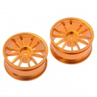 HJ 50020 1:10 RC Car 12 Spoke alumínio Deriva Jante - Gold (2 PCS)
