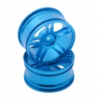 HJ 50022 1:10 RC Car 5 Spoke Aluminum Drift Wheel Rim - Blue (2 PCS)