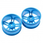 HJ 50022 1:10 RC Car 5 Spoke Aluminum Drift Wheel Rim - Azul (2 PCS)
