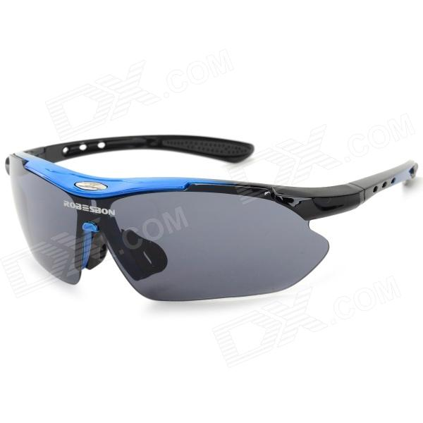 ROBESBON Outdoor Sports Cycling Goggles Sunglasses - Blue + Black
