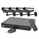 KARE D4274HT+C8103VD 4-CH DVR Digital Video Recorder w/ 30 IR Night Vision Lights Camera Set - Black