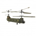 Classic Aluminum Alloy 3.5-CH Remote Control Helicopter - Army Green (6 x AA)