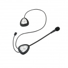 TWP TWP-V2 Waterproof Bluetooth V3.0 Stereo Headset for Motorcycle Helmet - Black