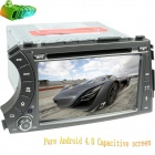 "LsqSTAR 7"" Android Capacitive Screen 2-Din Car DVD Player w/ GPS Radio BT SWC AUX for Kyron/ Actyon"