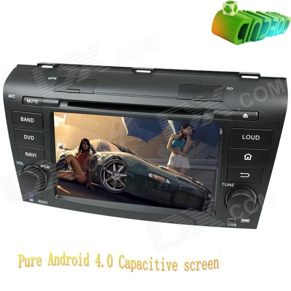 LsqSTAR 7 Android 4.0 Capacitive Car DVD Player w/ GPS Radio BT ATV Wi-Fi SWC AUX for Old Mazda 3 7 hd 2din car stereo bluetooth mp5 player gps navigation support tf usb aux fm radio rearview camera fm radio usb tf aux