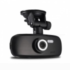 Novatek Full HD 1080P 3.0MP COMS G-sensor Loop Recording 140' Angle Car DVR - Black