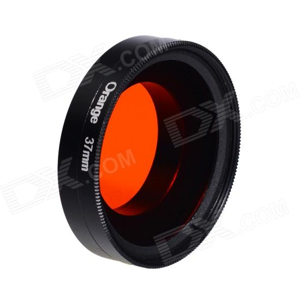HighPro 37C_O 37mm Correction Filter w/ Flip Converter for GoPro Hero 3 / 3+ - Orange + Black