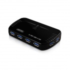 UNITEK Y-3112 Ultra High-Speed ​​10-Port USB 3.0 Hub w / Power Adapter + USB 3.0 Datenkabel - Schwarz