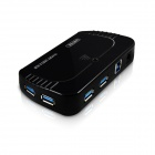 UNITEK Y-3112 Ultra High-Speed 10-Port USB 3.0 Hub w/ Power Adapter + USB 3.0 Data Cable - Black