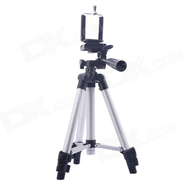 Outdorr Mini Universal Retractable Camera / Camcorder Tripod w/ Retractable Holder - Silver + Black bullet camera tube camera headset holder with varied size in diameter
