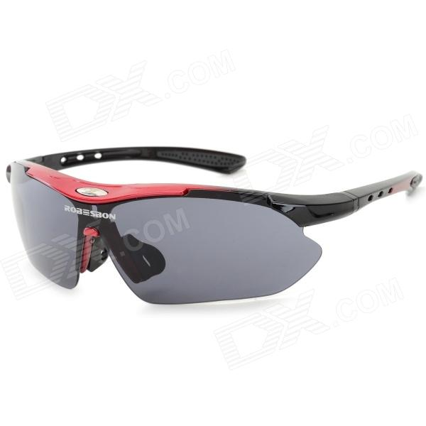 ROBESBON Outdoor Sports Cycling Goggles Sunglasses - Red + Black