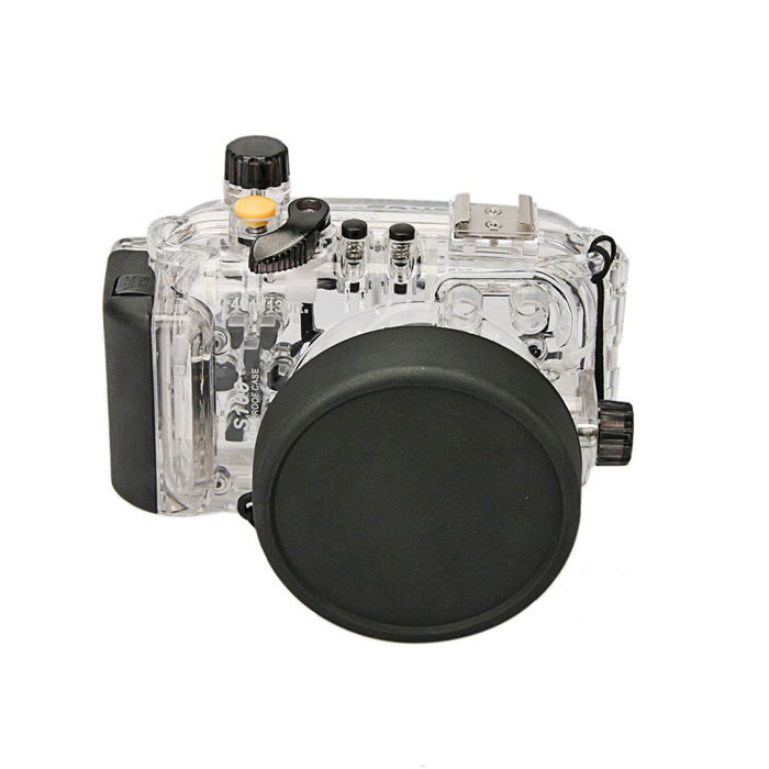 Meikon Underwater Diving Camera Waterproof Cover Case for Canon EOS S100 - Black 40m 130ft waterproof underwater camera diving housing case aluminum handle for sony a7 a7r a7s 28 70mm lens camera