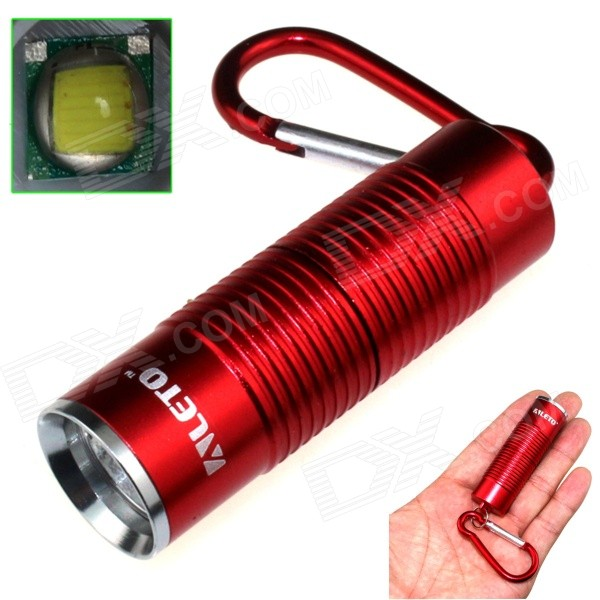 ALETO KL251R 1-LED 900lm 3-Mode White Light Flashlight w/ Keychain - Red (1 x 16340)
