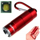 ALETO KL251R Cree XM-L T6 1-LED 900lm 3-Mode White Light Flashlight w/ Keychain - Red (1 x 16340)