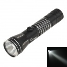 Mini Water-proof Aluminum Alloy Shell White Light LED Energy Saving Flashlight w/ Strap - Black
