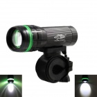 New L13 Cree XP-E Q5 150lm 3-Mode White Zooming Bike Light + Tail Safety Light - Black (3 x AAA)