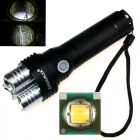 Zhishunjia P5 3 x CREE XP-E Q5 1000lm 5-Mode White Light Flashlight - Black + Silver (1 x 26650)