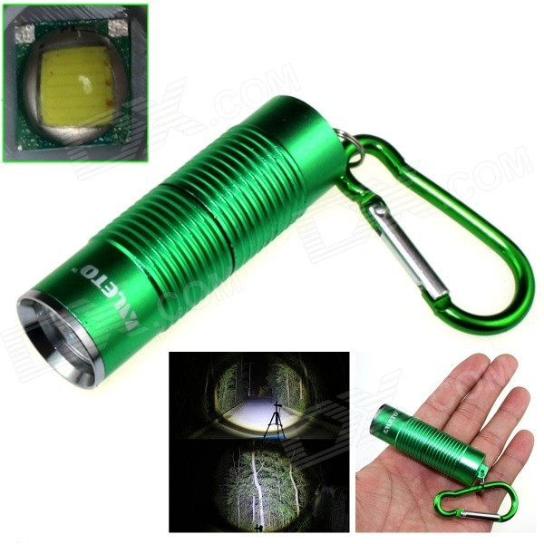 ALETO KL251G 1-LED 900lm 3-Mode White Light Flashlight w/ Keychain - Green (1 x 16340)