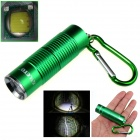 ALETO KL251G Cree XM-L T6 1-LED 900lm 3-Mode White Light Flashlight w/ Keychain - Green (1 x 16340)