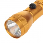8863 Mini Water-proof Aluminium Alloy Shell White Light LED Flashlight w/ Strap - Golden (1 x AA)