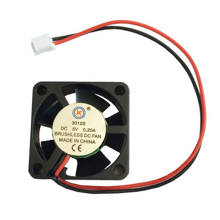 AV-0.2A 2-Pin HDD 7-Blade Cooling Fan - Black + Red (5V / 30 x 10mm)