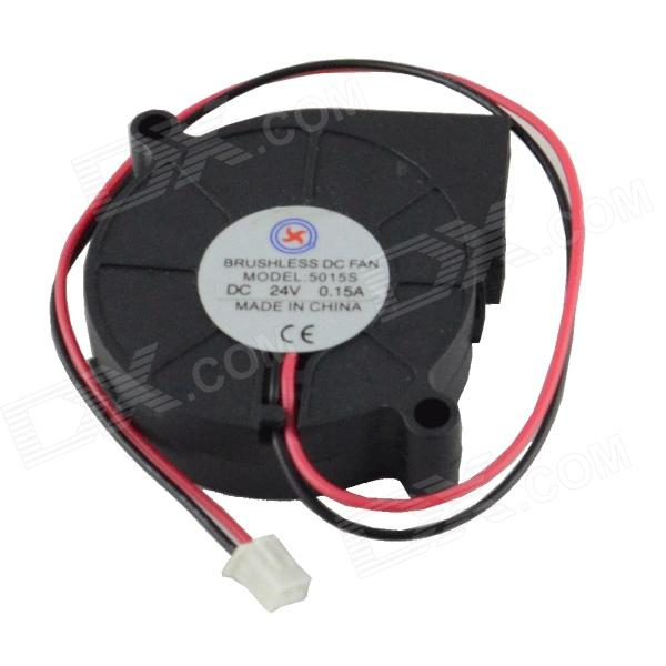 AV-0.15A 2-Pin HDD 30-Blade Cooling Fan - Black + Red (24V / 50 x 15mm)