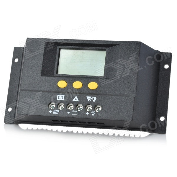TWP Solar30 2.4 LCD 30A 12V /24VPV Panel Battery Charge Solar Controller - Black