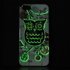 Protective Owl Pattern Glow-in-the-dark TPU Back Case for IPHONE 5 / 5S - White + Multi-colored