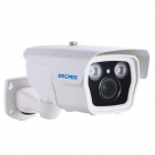 Camera ESCAM Q1039 impermeável 1080P CMOS 3-12mm Lens IP Network w / LED 2-IR - Branco (Plug UE)