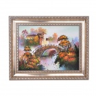 HonghuaYiPin Handmade Country Scenery Crystal Sand Painting - Multicolored