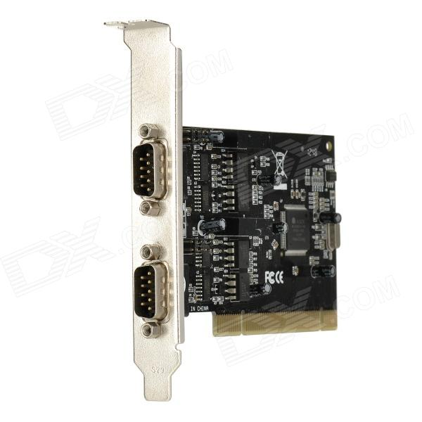 PCI to 485 + 422 Card / Board - Black + Silver 2 ports rs485 422 pci card optical isolation surge protection 1053 chip