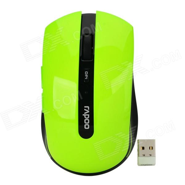 цены на Rapoo 7200P USB 2.0 5G Wireless Optical LED 500 / 1000dpi Mouse - Black + Green (1 x AA)