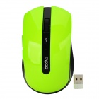 Rapoo 7200P USB 2.0 5G Wireless Optical LED 500 / 1000dpi Mouse - Black + Green (1 x AA)